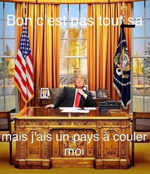 le président des êtas-unis d'Amérique - meme