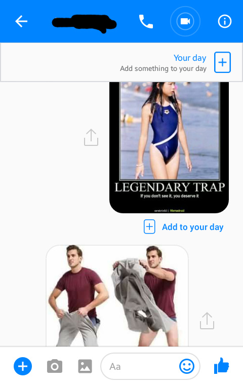 My friend meant to send a different picture but accidentally sent this on instead - meme