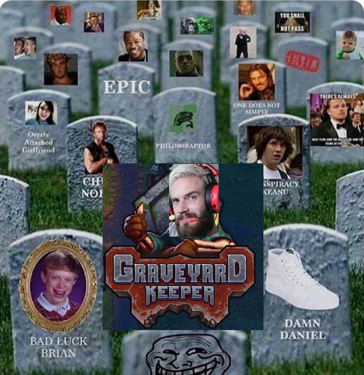 Pewdiepie the Grim Reaper of Memes