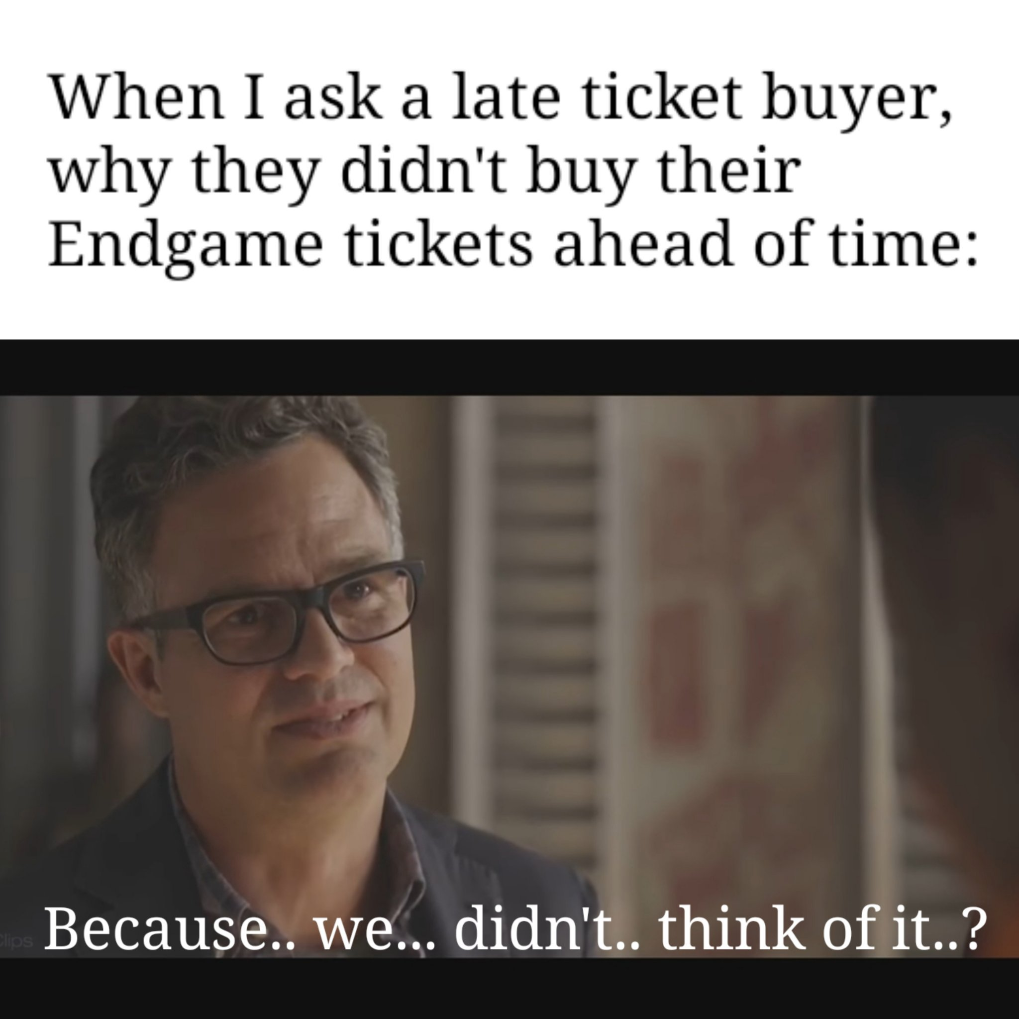 _-*Hope you bought your tickets*-_ - meme