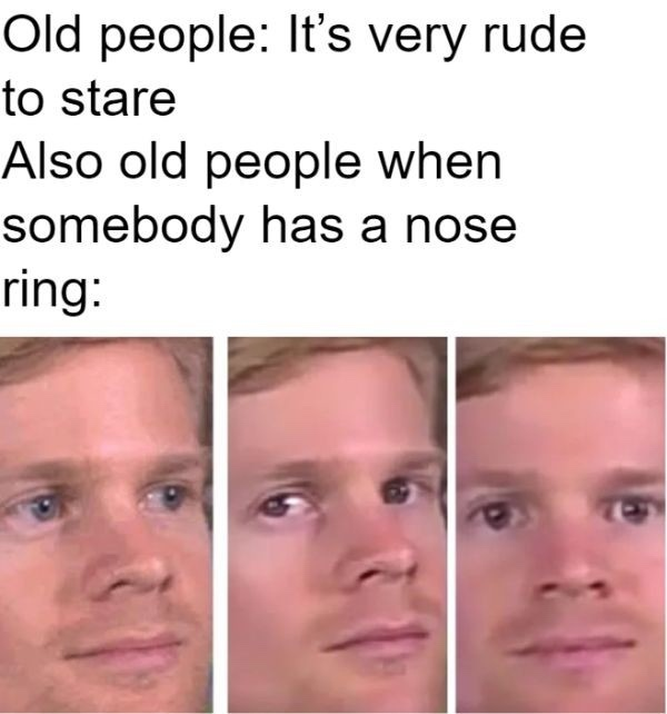 Damn old people - meme