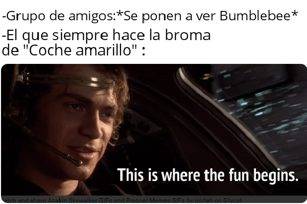 Si ves un Coche amarillo pegas a tus amigos, así es en España no se como será en Latino America - meme