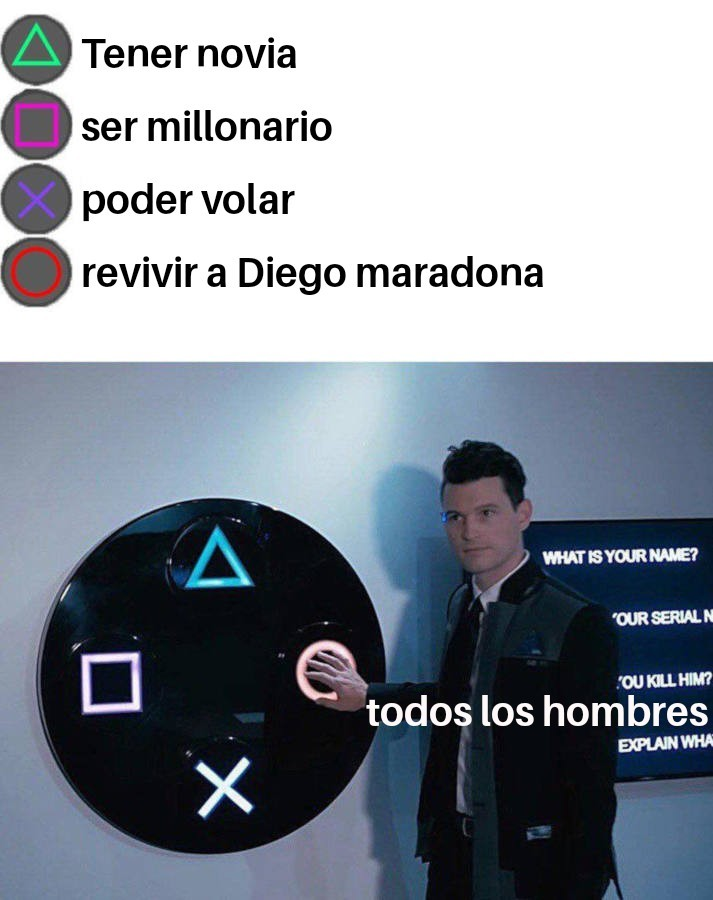 Maradona a muerto D': - meme