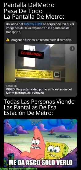 Meme: Por Eso No Vivo En La CDMX, Ni Uso El Metro