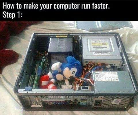 Comment rendre votre ordinateur plus rapide, étape 1 : - meme