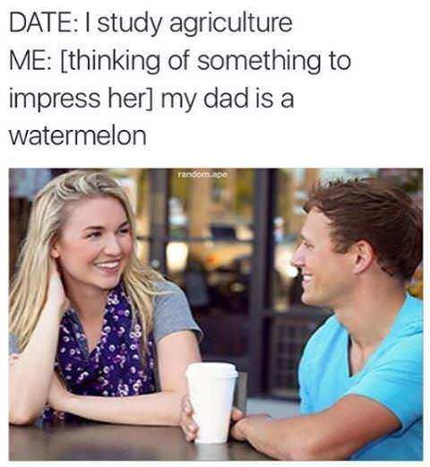 My dad is a watermelon - meme