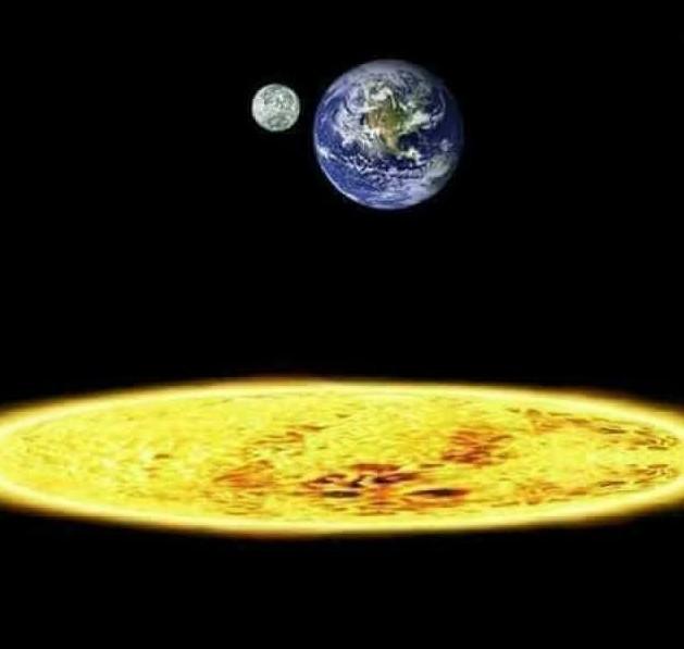 Je vous présente la théorie du soleil plat - meme