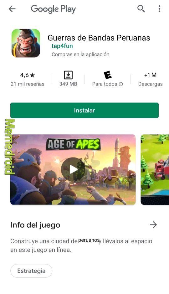 Guerra de bandas peruanas - meme