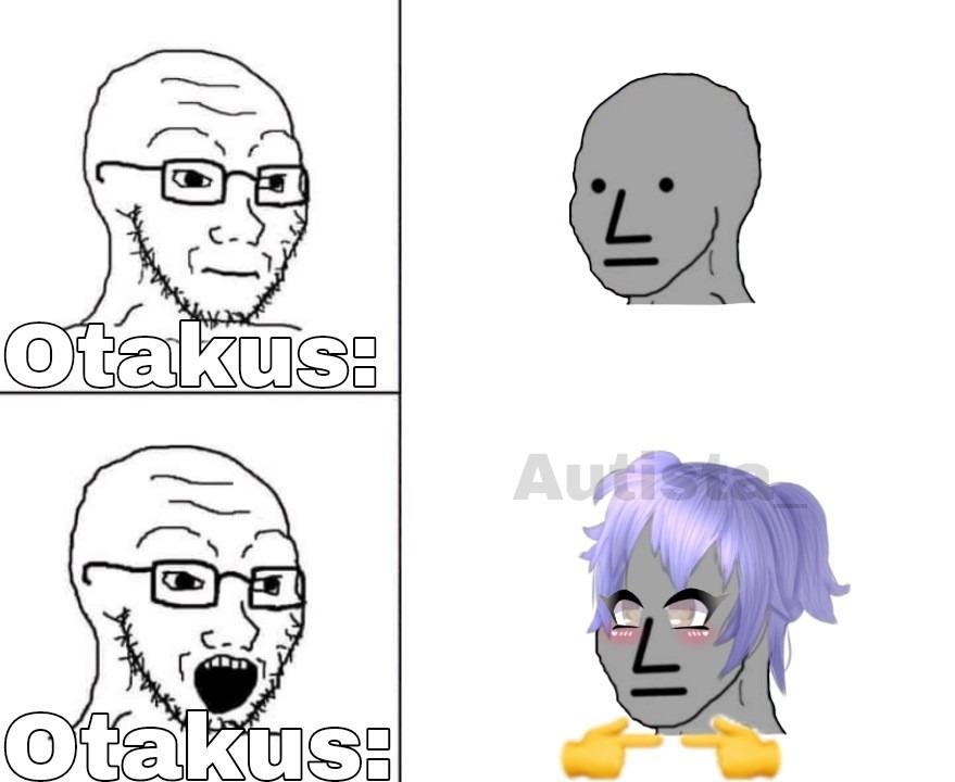 Estos otakus - meme