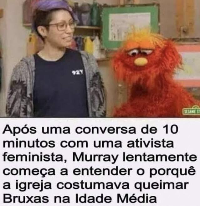 Queimou uma feminista hoje? - meme