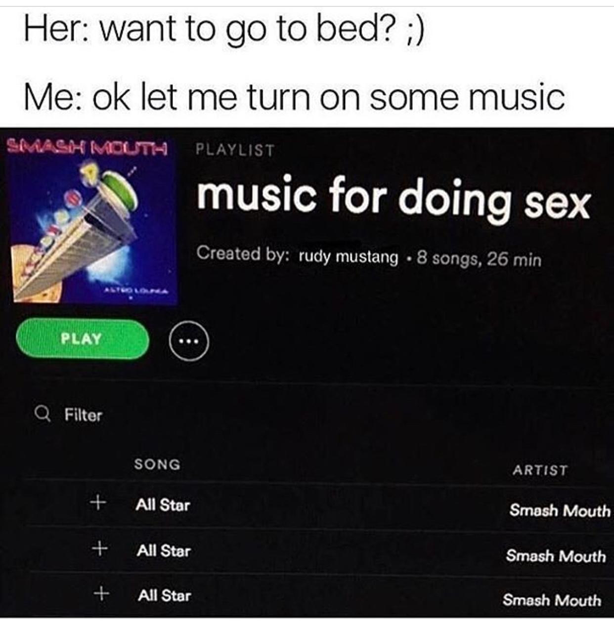 I love the sex - meme