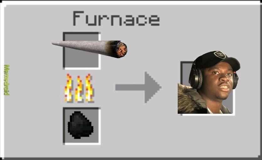 Minecraft fornace - meme