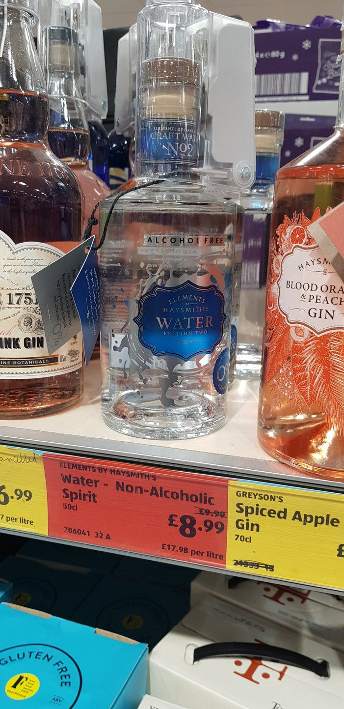 Alcohol free water. Only 8.99! Wow! - meme