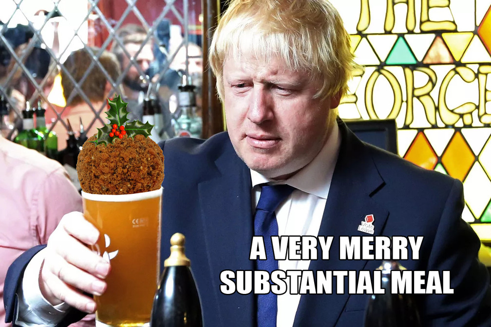 A very merry substantial meal - meme