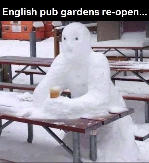 English pub gardens re-open. - meme