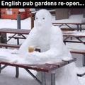 English pub gardens re-open.
