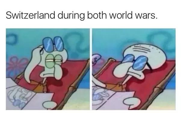 Swiss in 2020 and 2021 be like - meme