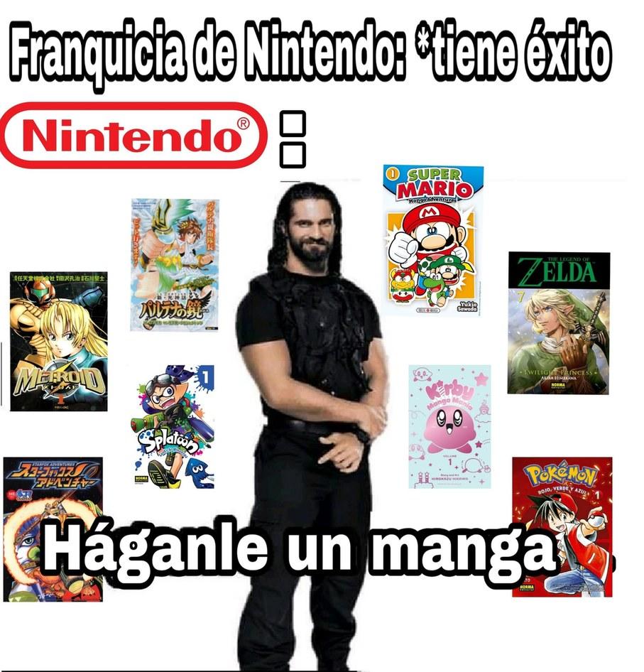 Nintendo ama los mangas tanto como las demandas - meme