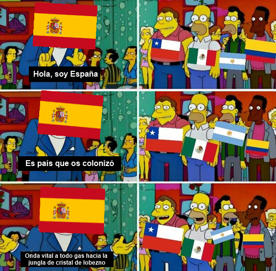 La mejor forma de reconocer a España - meme