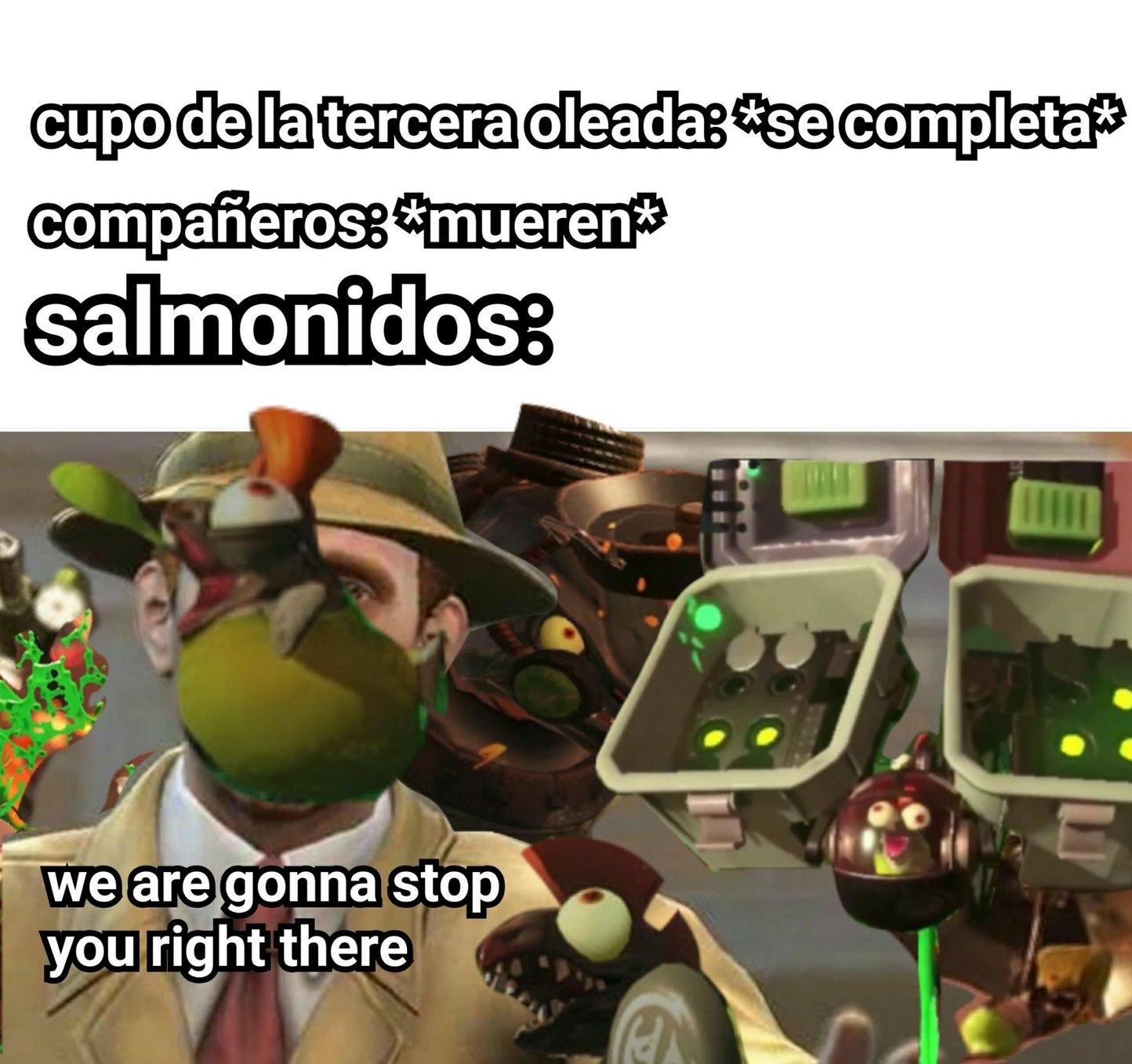 Salmon run un a nutshell - meme