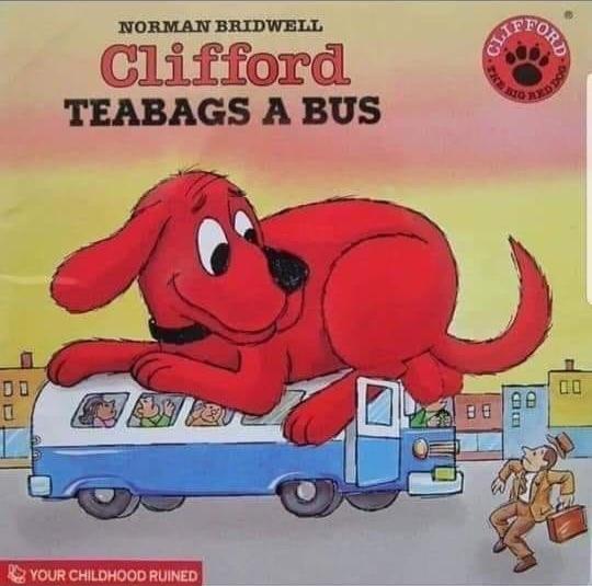 big red dog - meme