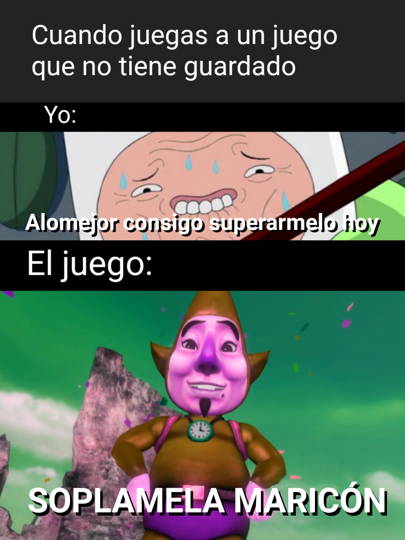 Los juegos retro - meme