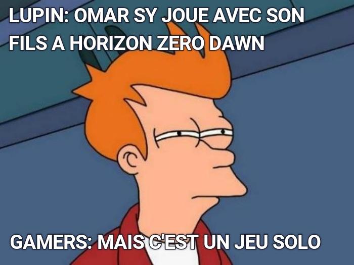 Lupin le gamer - meme