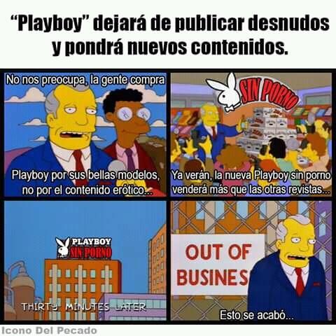 Pobre Playboy sin sus desnudos no son nadie - meme