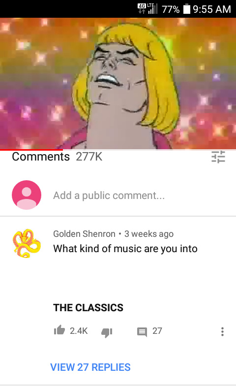 I only listen to the classics - meme