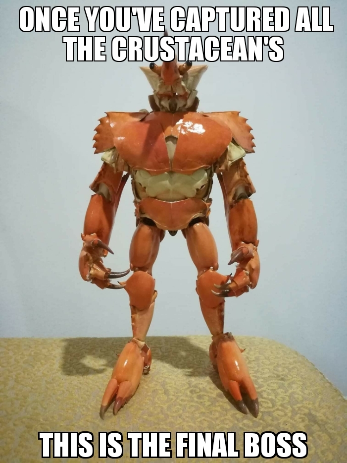 You must face the King of Crabs: Crabeous - meme