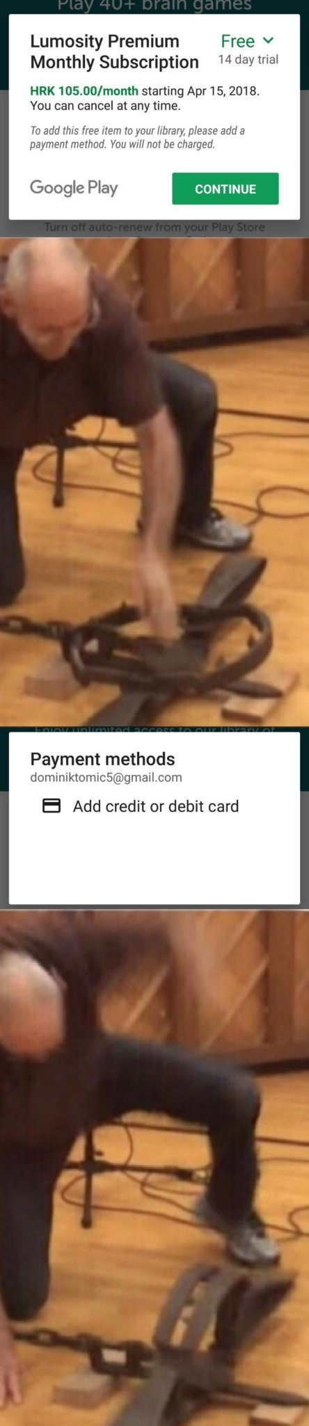 Why would you need a credit card for a free trial? - meme