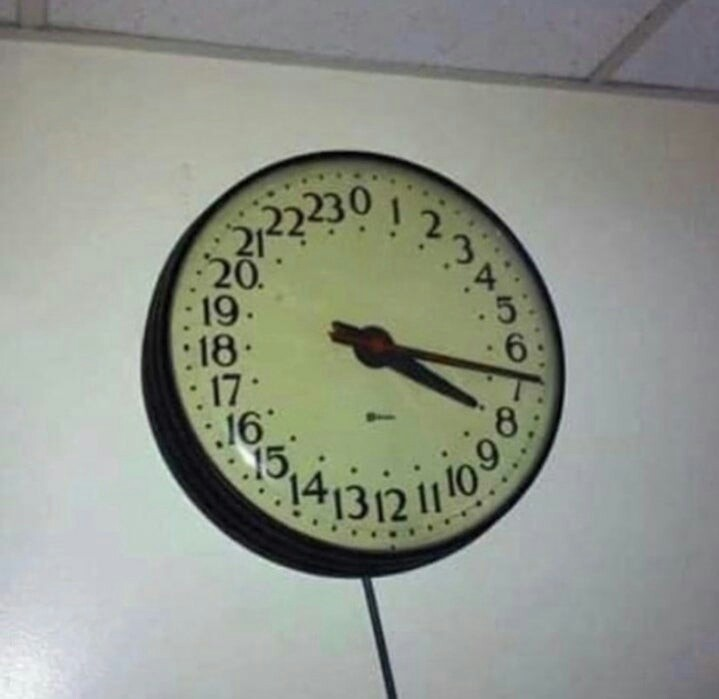 Esse relógio é brabo - meme