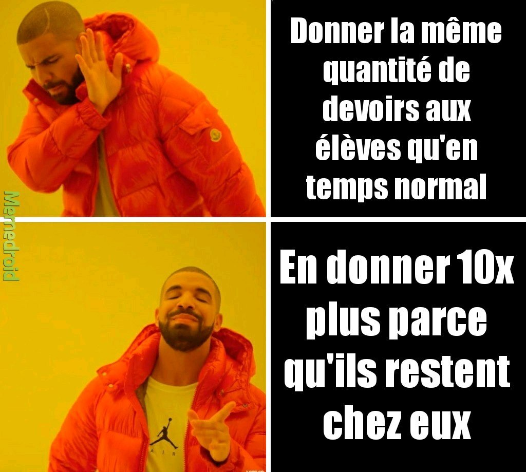Les profs en Télétravail be like - meme