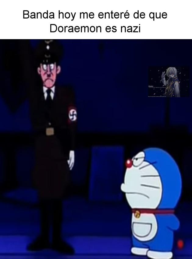 No se ve bien en la imagen, pero el soldado nazi tiene el brazo levantado (es el saludo fascista) - meme