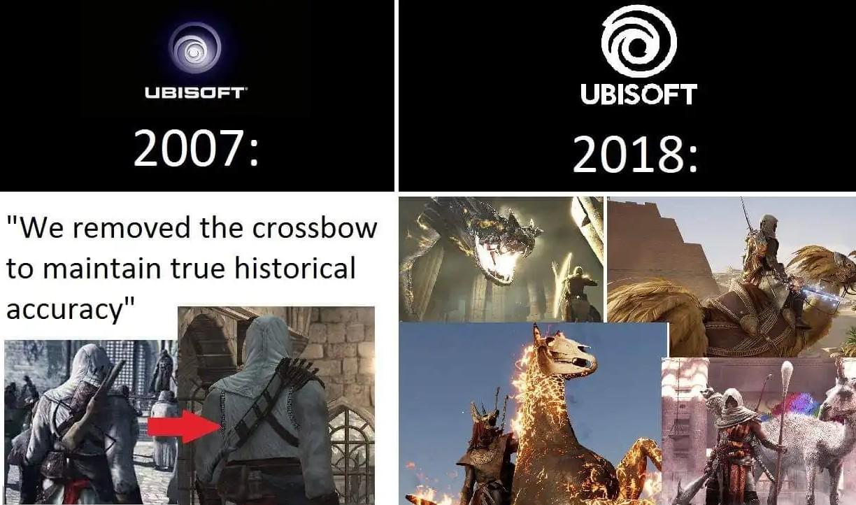 Evolution d'assasin screed - meme