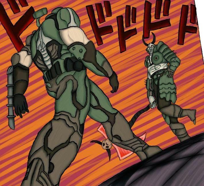 Doom menacing - meme