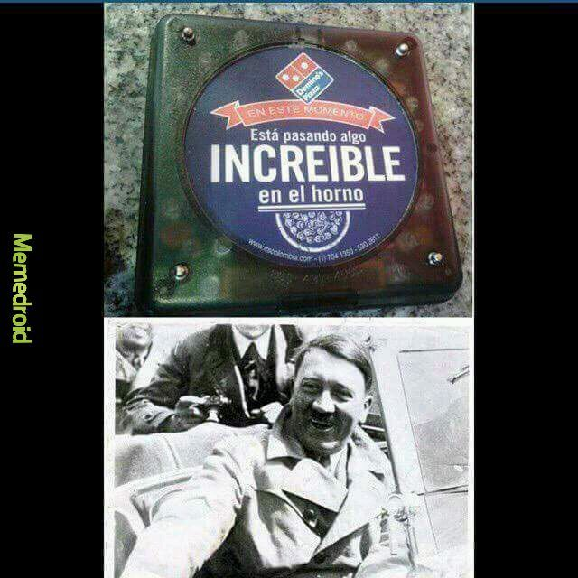 Hitler es el fundador Dominos pizza - meme