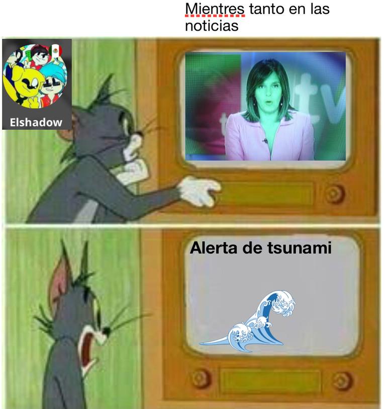 Tsunami parrandero xd - meme