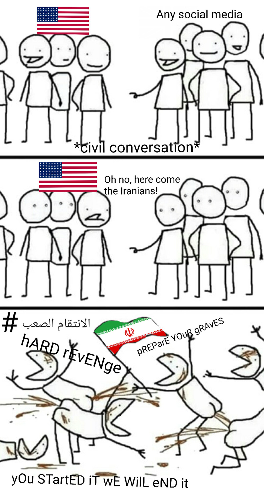 This isn't for ALL Iranians, chill - meme