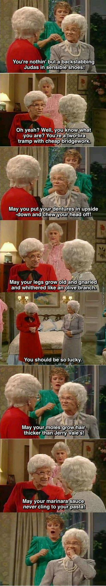 Granny stand off - meme