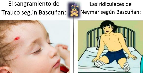 ¿A quien mas le lleno de rabia y frustración las ridiculeces de Neymar y el circo que hizo Bascuñan? - meme