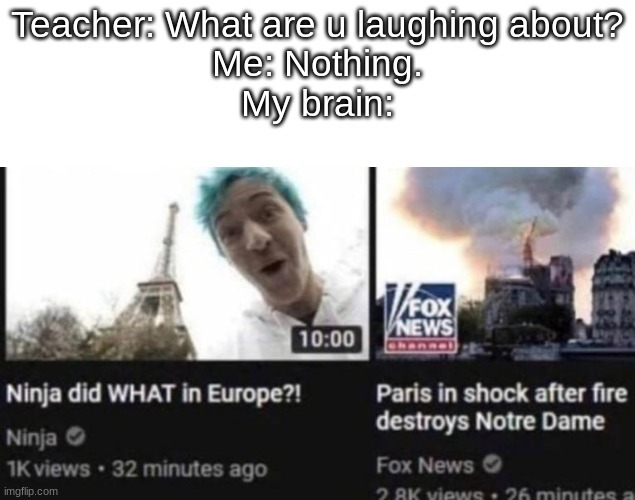 FORTNITER ACTUALLY WENT OUTSIDE - meme