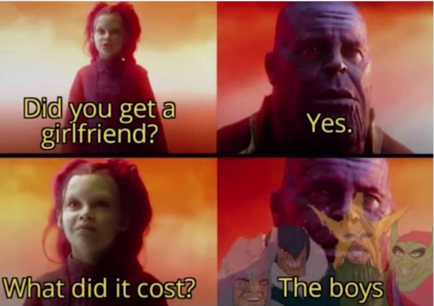 RIP the boys - meme