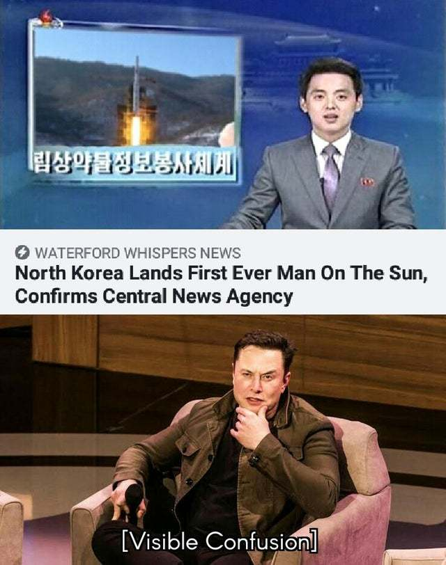 North Korea lands first ever man on the Sun - meme