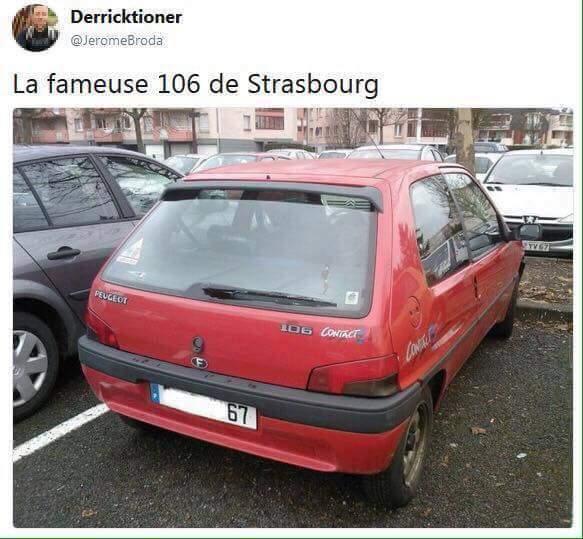 Authentique 106 de strasbourg - meme