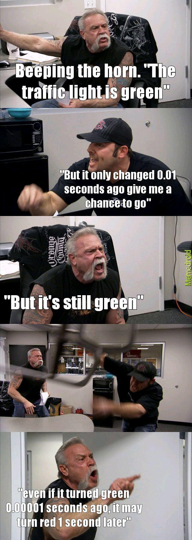 Traffic lights - meme