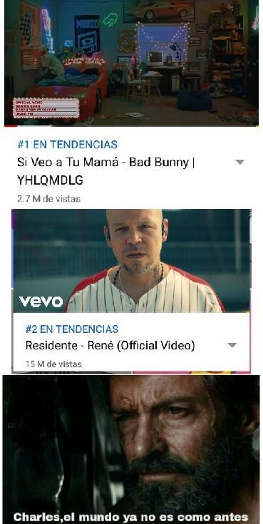 Bad Bunny se queda chico  ante está cancion - meme