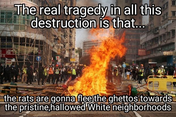 Get the For Sale signs ready! For the houses,not the blacks. - meme