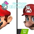 RTX Off = Cara de Mario normal - RTX On = Cara de Mario en la vida real - Para que entiendan