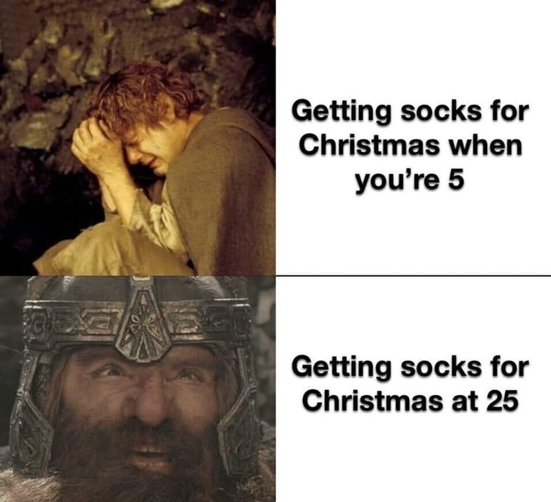 getting socks - meme
